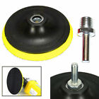"3/4/5/6/7"" inch Backer Pad Polishing Buffing Plate Rubber + M14 Drill Thread Set"