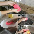 1/2pcs Food Grade Silicone Dish Washing Sponge Antibacterial Kitchen Clean Tool