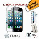 Apple iPhone 5 - 16GB 32GB 64GB Black & White (Unlocked) Smartphone Mobile