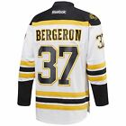 New Mens REEBOK NHL PREMIER JERSEY Patrice Bergeron White Boston Bruins