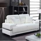 Modern Style Love Seat Sofa With Breathable Leatherette and Pillows