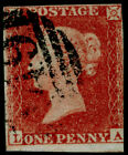 SG8, 1d red-brown PLATE 160, USED. Cat £50. LA