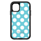 OtterBox Defender for iPhone 7 8 PLUS X XS Max XR White & Blue Polka Dots