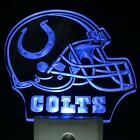 Indianapolis Colts Helmet Day  Night Sensor Led Night Light Sign