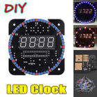 DIY Kits Dot Matrix LED Electronic Clock Digital Dispaly Alarm Time Temperature