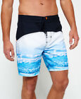 New Mens Superdry Surplus Goods Photo Swim Shorts Darkest Navy