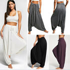 Womens Casual Harem Pants Loose Baggy Hippie Boho Alibaba Trousers Aladdin Gypsy