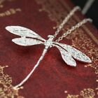 Animal  Vtg 925 Silver Wedding Dragonfly Necklace Pendant With Chain  Jewelry