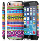 Tribal Pattern Hybrid Dual Layer TPU Gel + PC Case Cover For iPhone 6 6s 4.7