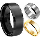 Fashion Men Stainless Steel Ring Wedding Engagement Lover Jewelry Gift Hot