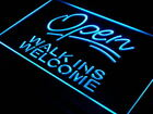 j398-b Open Walk Ins Welcome Barber Shop Neon Light Sign
