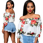 Women Ladies Loose Casual Long Sleeve T-Shirt Floral Blouse Tops Shirt