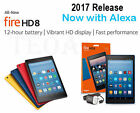 "Amazon Kindle Fire HD 8 7th gen 2017 with Alexa, 8"", 16 GB Black Red Blue Yellow"