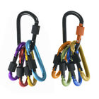 Locking Aluminum Carabiners D-Ring Spring Snap Clip Screw Buckle for Hiking