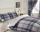 Brandon Check Complete Bed In A Bag Duvet Pillowcase Sheet & Curtains