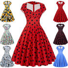 Womens Vintage 50s Retro Pinup Swing Evening Cocktail Party Housewife Mini Dress