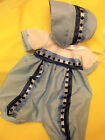 DREAM BABY BOYS ROMPER AND PEEK HAT NEWBORN 0-3 MONTHS OR REBORN DOLLS