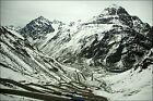 Poster, Many Sizes; Switchbacks On Road To Tunel Del Cristo Redentor Chile In Wi