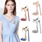 Women Fashion Jewelry Rhine stone High Heel Shoes Brooches Corsage Brooch Pin