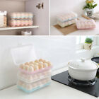 kitchen Durable Plastic 15-Cells Eggs Storage Box Container Refrigerator Cover