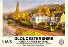 Vintage Style Railway Poster Gloucestershire Brockweir A4/A3/A2 Print