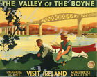 Vintage Irish Railways Valley of The Boyne Poster A3/A4 Print