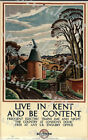 Vintage Live In Kent and Be Content Railway Poster A3/A4 Print