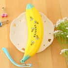 Silicone Soft Zipp Pencil Case Banana Cosmetic Make up Bag Pen Pouch Stationery