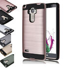 New Dual Layer Shockproof Brushed Hybrid Armor Rubber TPU Protection Case For LG