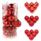 30/40/60/80mm Christmas Xmas Tree Ball Bauble Hanging Home Party Ornament Decor