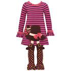 Bonnie Jean Baby Girls Brown Hat Boot Applique 2 Pc Thanksgiving Outfit 12-24M