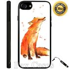 Brown Fox Painting Custom Case for iPhone 6S 7 Plus Samsung Galaxy S7 S8 Plus