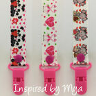 Dummy clip pacifier chain dummie binky baby teether soother gift flamingo teddy