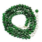 Round Shape 136.00 Cts Earth Mined Green Emerald Faceted Real Beads Necklace