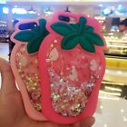Cute Strawberry Bling Quicksand silicone Phone Case For iPhone 7 Plus 6 6S Plus