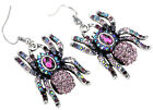 Spider dangle earrings halloween party bling jewelry gifts women her EA05 silver image