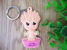 Guardians of the Galaxy Baby Groot Rocket Double Face Key chain Pendant Key Ring