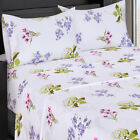 Blossom 300 Thread Count Floral Sheets, 100% Cotton Flower Print Sheet Sets