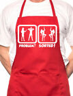 Problem Sorted Watching Strippers BBQ Cooking Novelty Apron