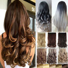 Sale One Piece Real Thick Hair Extensions Wavy Straight Clip in As Human Hair FO