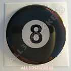 Sticker Billiard Ball Number Eight 8 Luck Adhesive Decal Resin Domed Car 3D $6.04 USD on eBay