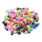 10X 20X 14G PTFE BIO FLEXIBLE BELLY NAVEL BUTTON RINGS PREGNANCY CURVED BARBELLS