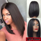 lace front wigs for black hair - Heat Resistant Lace Front Wig Synthetic Hair Bob Straight Black Wigs for Women