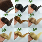 18Inch Remy Real Human Long Hair Extensions Seamless Tape In Skin Weft Hair