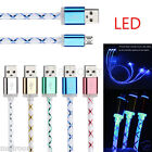 Micro USB Charger Cable LED Ladekabel Kabel für Android Samsung Galaxy s7 Edge