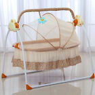 Big Space Electric Baby Crib Cradle Infant Rocker Auto Swing Bed Baby Cradle+Mat