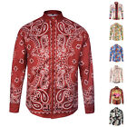 HOT SALE Men Floral Luxury Casual Slim Fit Stylish Long Sleeve Dress Shirts Tops