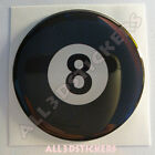 Sticker Billiard Ball Number Eight 8 Luck Adhesive Decal Resin Domed Car 3D $5.3 USD on eBay