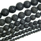 Natural Volcanic Lava Rock Gemstone Round Beads 15.5'' 4mm 6mm 8mm 10mm 12mm