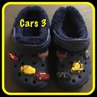 Kids Boys Blue Cars 3 Clog Croc Slippers Shoes Sizes Infant 4 - 8 Adult